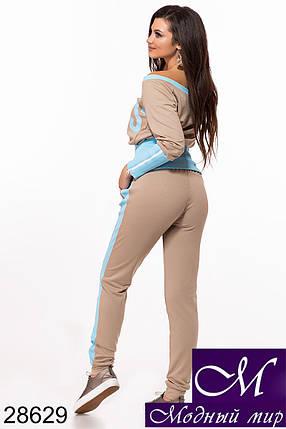 Женский стильный спортивный костюм (р. S, M, L) арт. 28629, фото 2