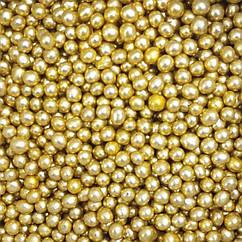 Посыпка кондитерская Бусы золото, 3мм, 100г