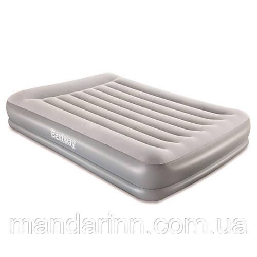 Надувная кровать двухспальная 203*152*38 см с встроенным насосом Bestway 67632