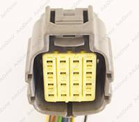 Разъем электрический 16-и контактный (42-33) б/у
