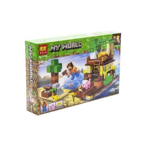 """Конструктор Майнкрафт 11136 """"Bela My World Minecraft: Остров сокровищ"""", 249 деталей (аналог Лего)"""
