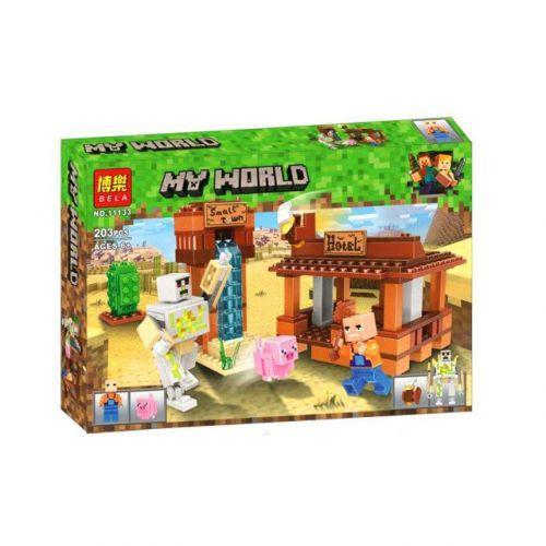 """Конструктор Майнкрафт 11133 """"Bela My World Minecraft: Отель"""", 203 дет (аналог Лего)"""