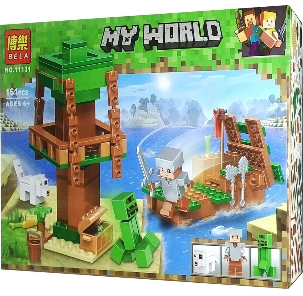 """Конструктор Майнкрафт 11131 """"Bela My World Minecraft: Рыцарь в поисках сокровищ"""", 161 дет (аналог Лего)"""