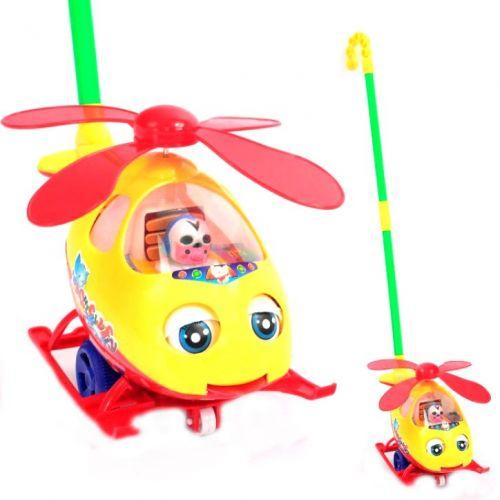 """Каталка ручная, для маленьких деток в ручку """"Вертолет"""""""