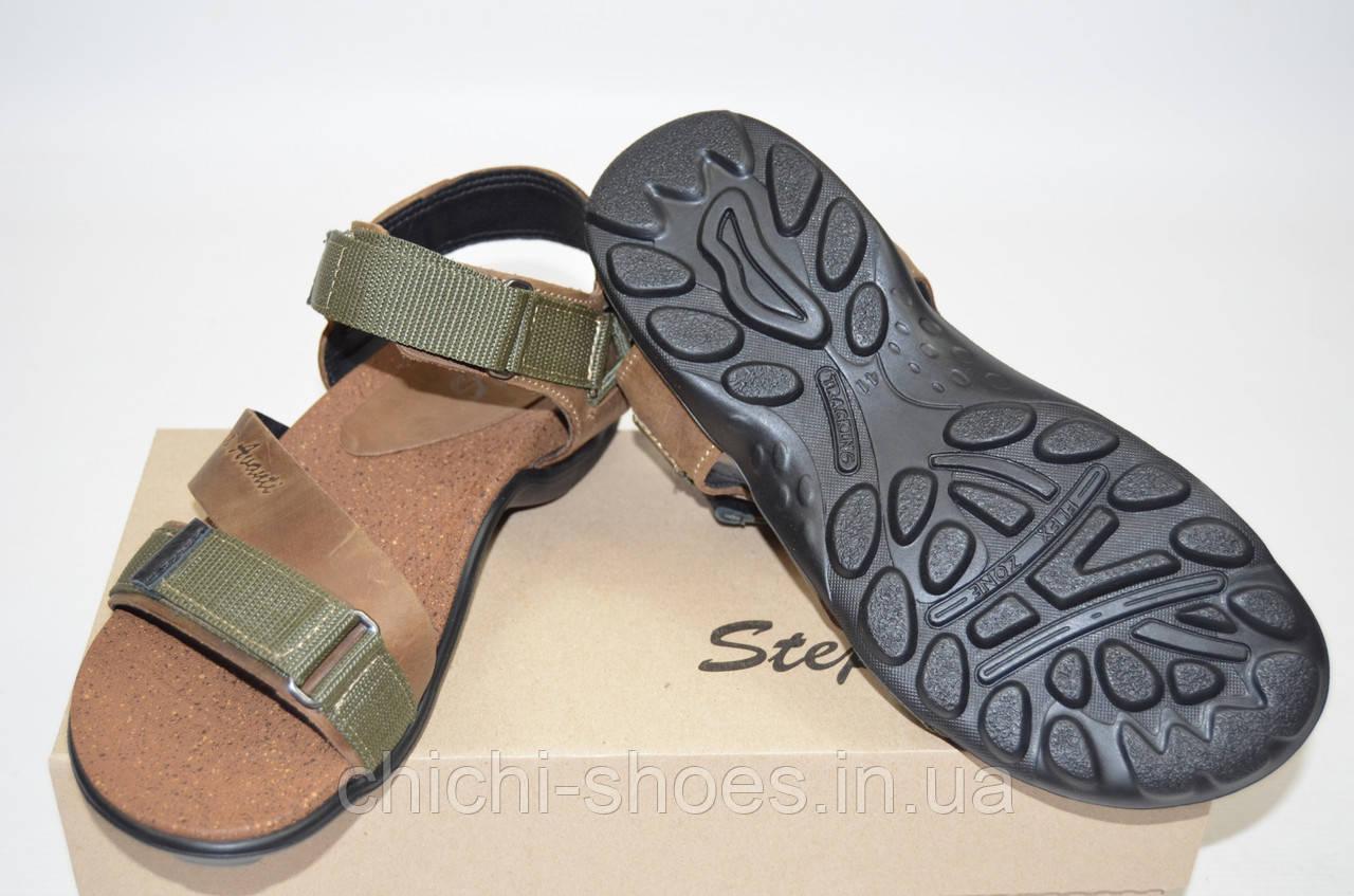 Мужские сандали Step Wey 1055 оливковые кожа