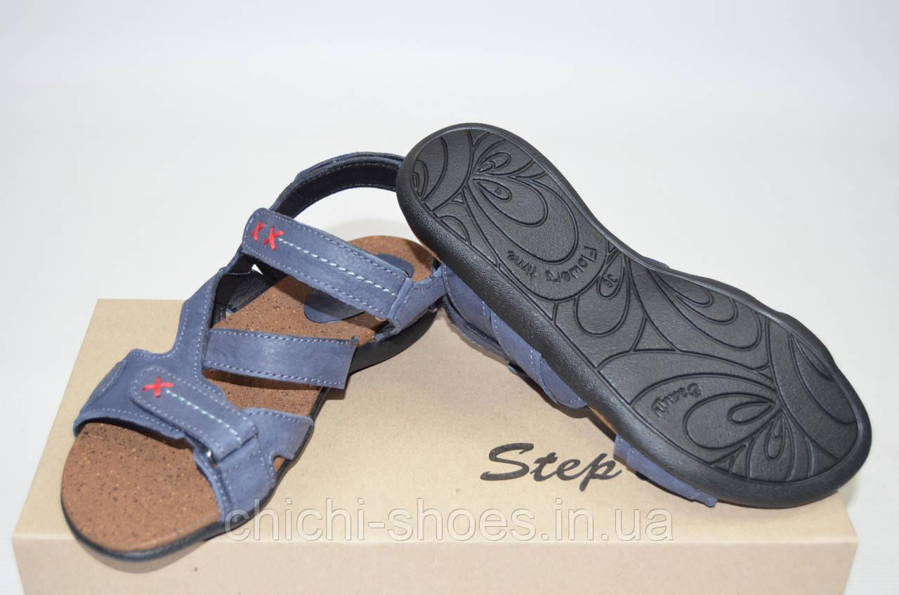 Подростковые сандали Step Wey 7651-1 синие кожа