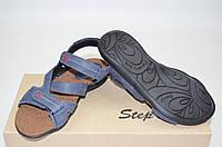 Подростковые сандали Step Wey 7651-1 синие кожа, фото 1
