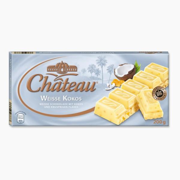 Белый шоколад Chateau Weisse Kokos 200гр. Германия