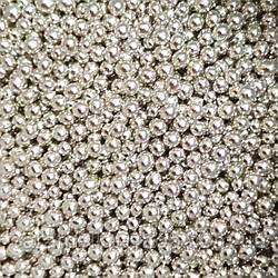Кондитерська посипання Намисто, срібло, 2 мм 100г