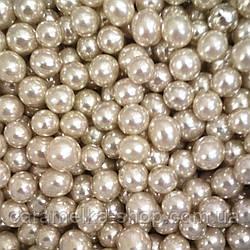 Посыпка кондитерская Бусы серебро, 5 мм 100г