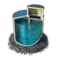 Септик из гидробетона однокамерный монолитный 2,6 м. куб.