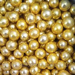 Кондитерська посипання Намисто золото, 7мм, 100г