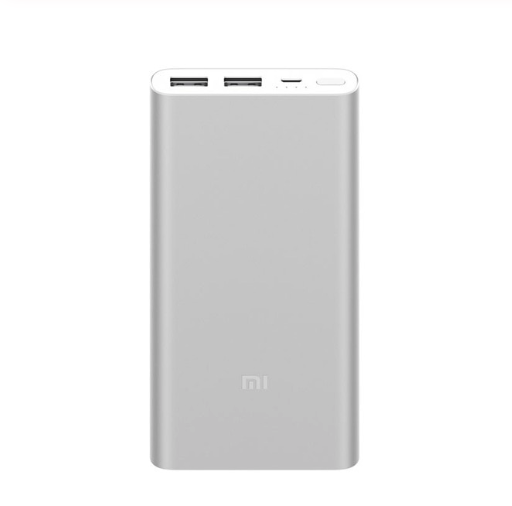 Внешний аккумулятор Xiaomi Mi Power Bank 2i 10000 мАч 2xUSB Цвет Серебристый Silver