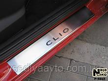 Накладки на пороги Renault CLIO III 5-дверка с 2005 г. (Premium)