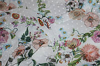 Ткань шифон цветы фон  №670, фото 1