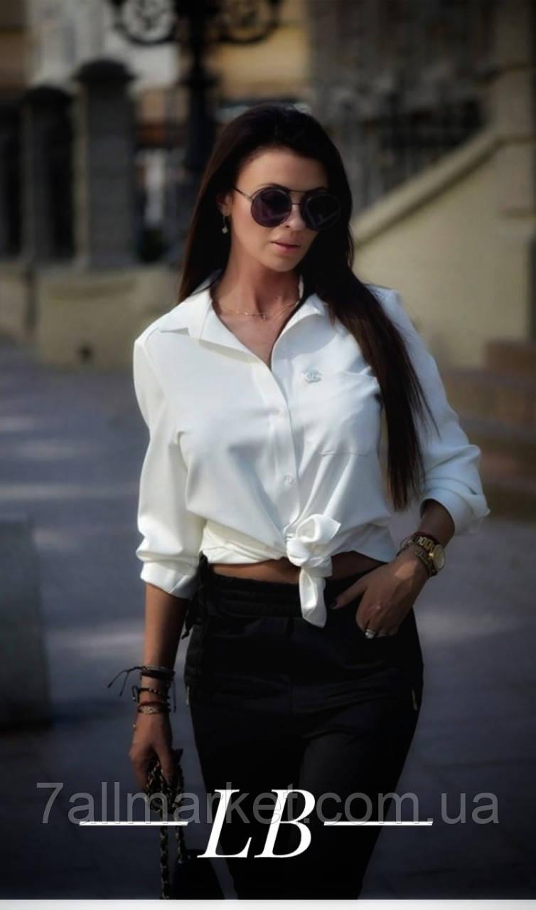 """Рубашка женская софт со значком размеры 42-46 (2цв) """"BARBARIS"""" купить недорого от прямого поставщика"""