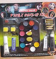 Краска для лица - грим на Хэллоуин (семейный набор)