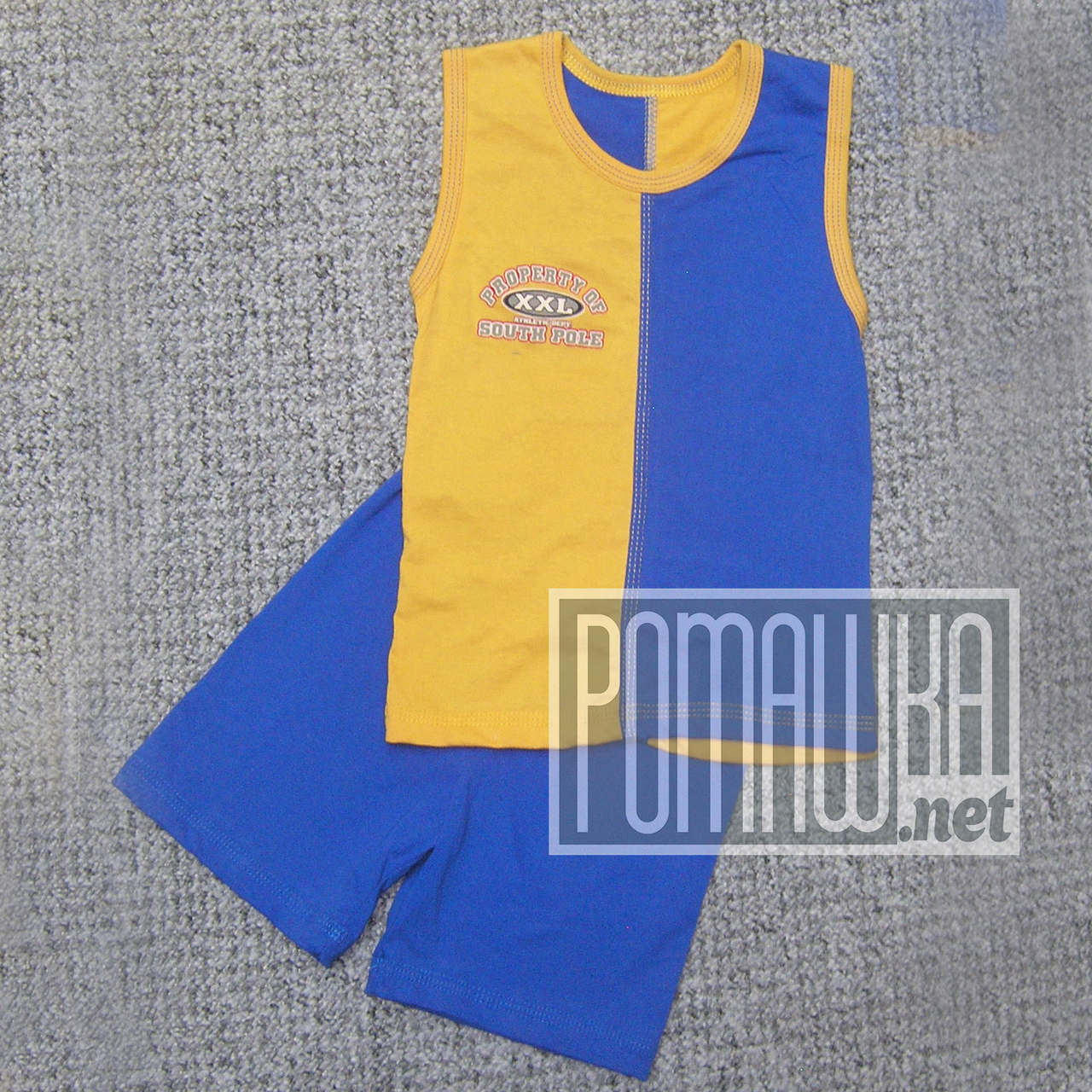 Детский летний костюм 110-116 4-5 лет комплект майка и шорты на для мальчика мальчику на лет 2113 Синий