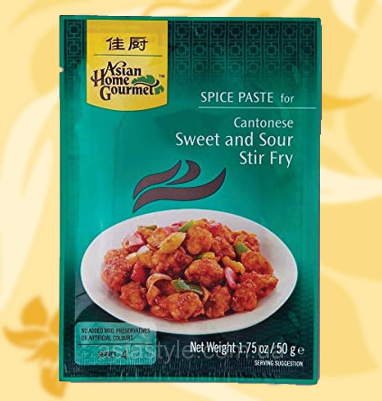 Кисло-солодкий соус кантонійський, Asian Home Gourmet,  50 г, Дж