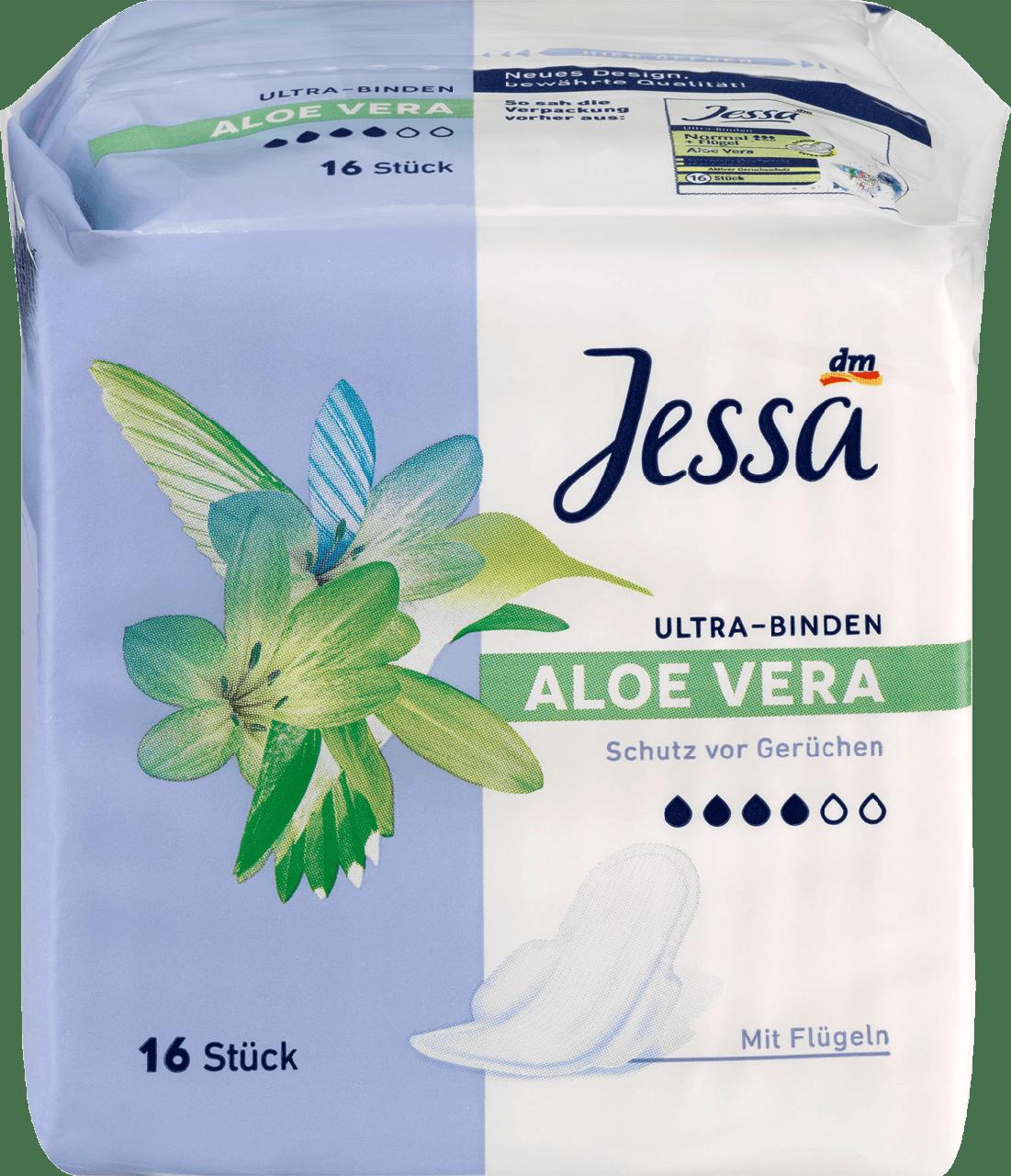 Гигиенические прокладки с крылышками Jessa Ultra-Binden Aloe Vera, 16 шт.