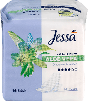 Гигиенические прокладки с крылышками Jessa Ultra-Binden Aloe Vera, 16 шт., фото 1