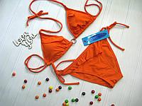 Купальник женский раздельный яркий Atlantic beach бикини оранжевый