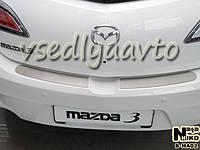 Накладки на бампер Mazda 3 II седан с 2009 г. (NataNiko)