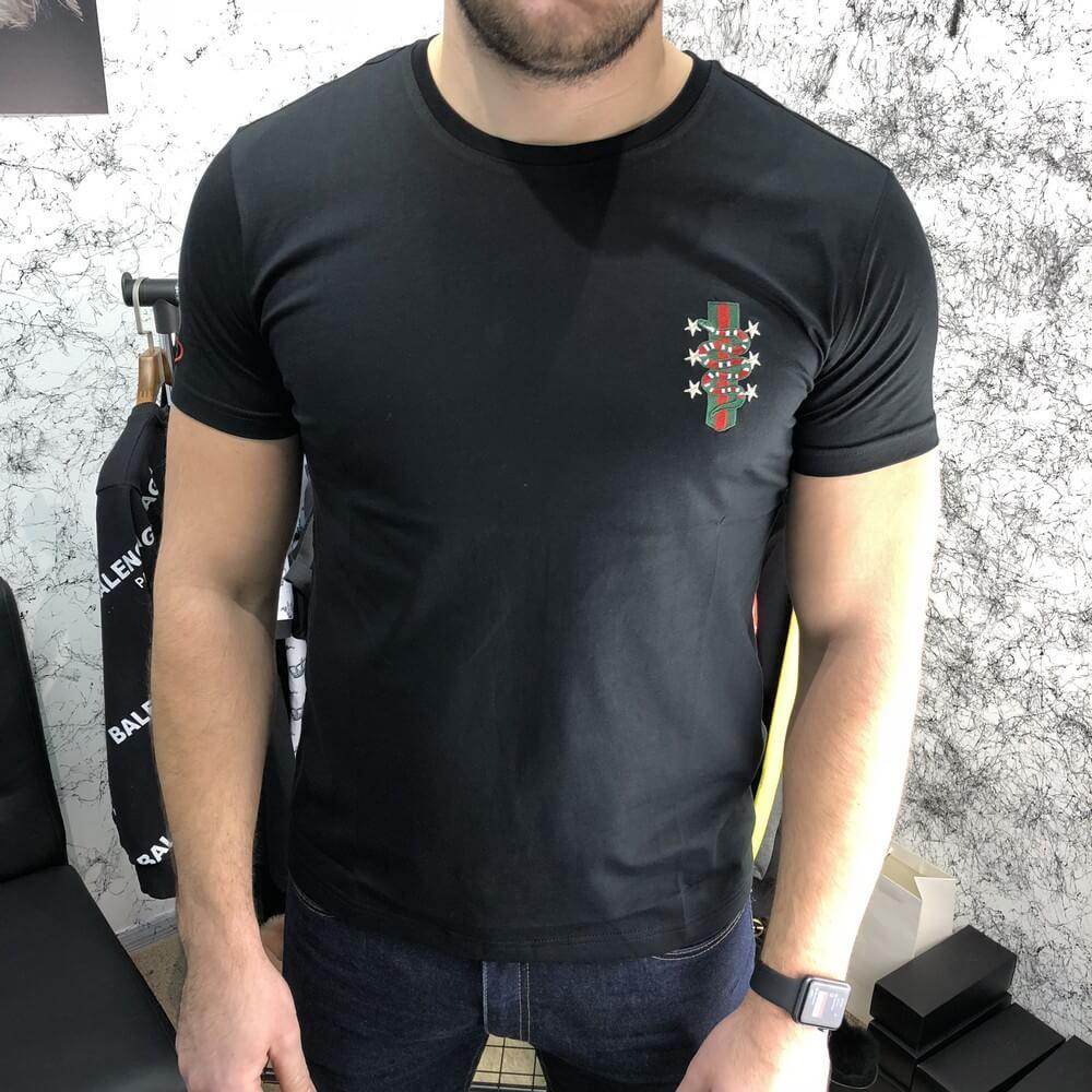 T-Shirt Gucci With Web Crest Kingsnake Black