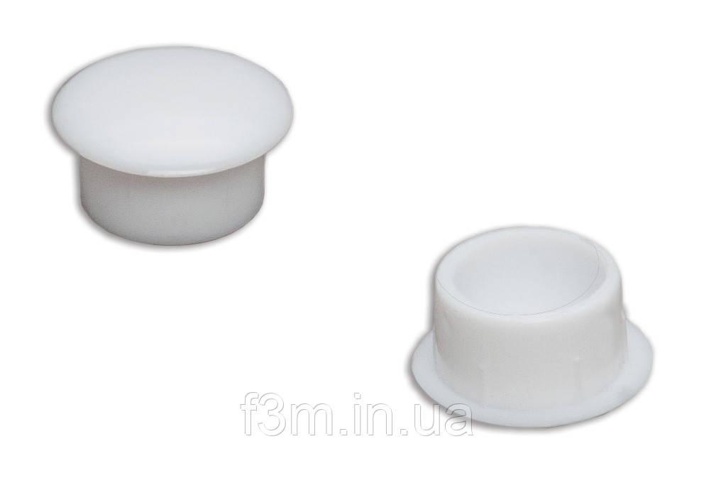 Заглушка отверстияF3M пластиковая, Ø 10 мм: БЕЛАЯ