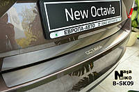 Накладка на бампер Skoda OCTAVIA III A7 с 2013- (NataNiko)