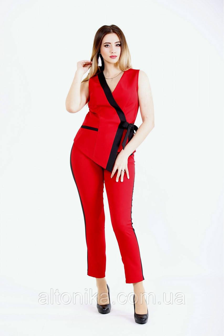Женский модный брючный костюм   42-74