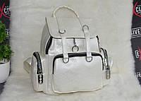 Стильный городской рюкзак белый, фото 1