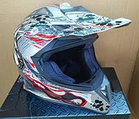 Шлем  FXW HF-116 кроссовый серый
