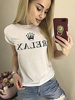 """Футболка женская модная RELAX размер 42-46 """"BARBARIS"""" купить недорого от прямого поставщика, фото 1"""