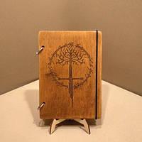 Скетчбук A5 The Lord of the Rings. Блокнот с деревянной обложкой Властелин колец.