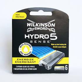 Картриджи для бритья Wilkinson Sword (Schick) Hydro 5 Sense Energize (6 шт.) 01144