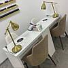 Маникюрный стол для двоих мастеров с 3 общими ящиками , фото 4