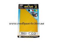 Брызговики универсальные резиновые (2шт) SPARCO желтые