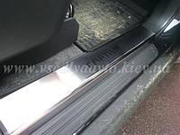 Защита порогов - накладки на пороги Chevrolet CAPTIVA II с 2011- (Premium)