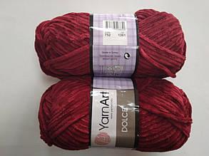 Пряжа для вязания Дольче Yarnart бордовый 752