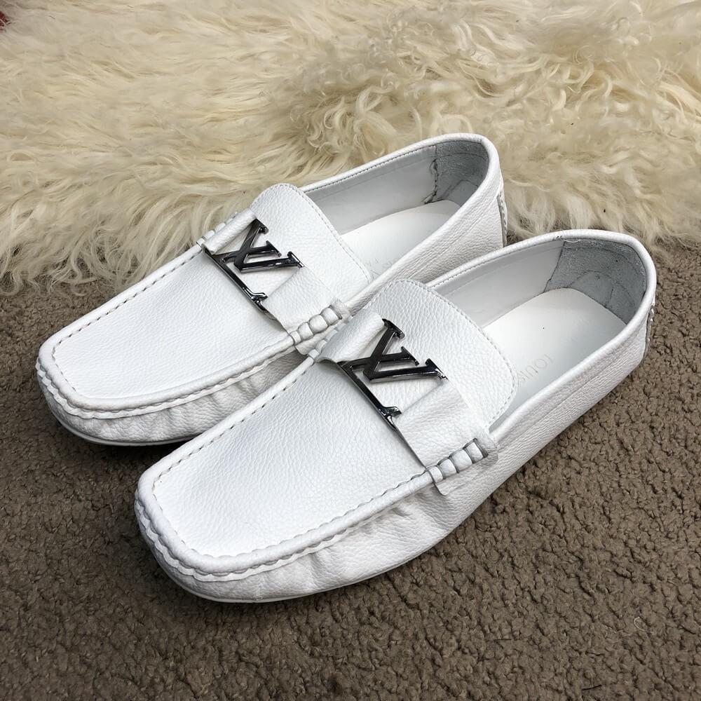 f796e20a4ac90 Louis Vuitton Moccasins Raspail White, купить в магазине