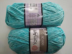 Пряжа для вязания Дольче Yarnart бирюзовый 746