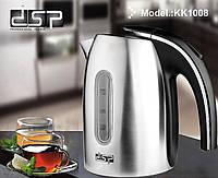 Чайник электрический DSP KK1008 нержавейка 1.2 л 1370 Вт