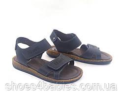 Босоножки кожаные р. 32, 36, цвет темно-синий ТМ FS Collection модель 3021