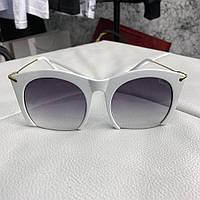Miu Miu Sunglasses Rasoir Square Frame White/Gray, фото 1