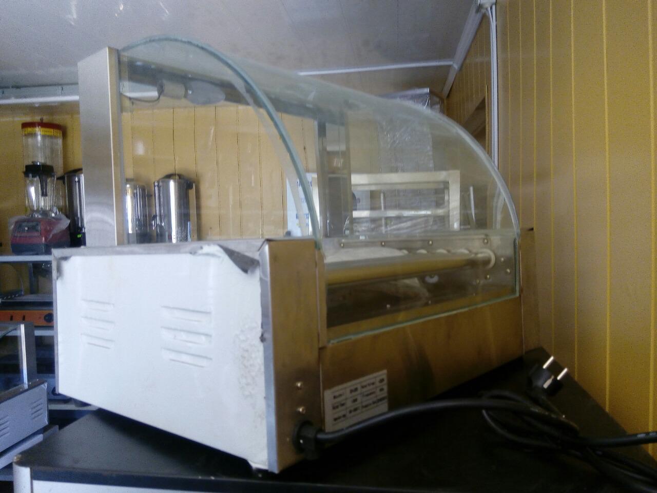Гриль роликовый с защитным стеклом VEKTOR EH-209 новый (9 роликов)