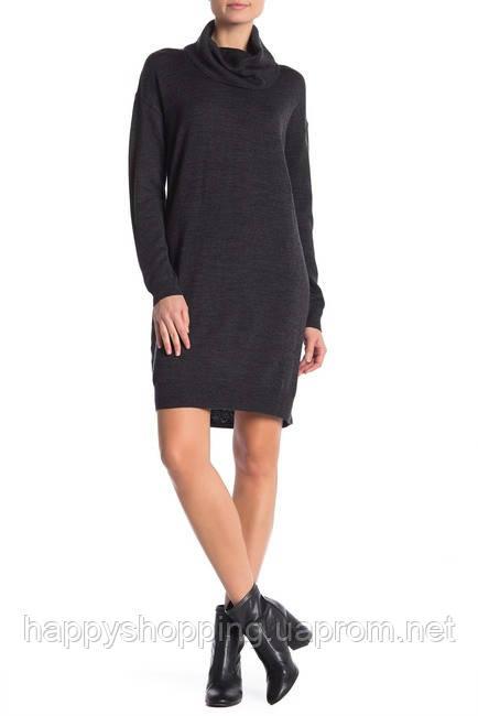 Женское темно-серое шерстяное миди платье из шерсти мериноса Joe Fresh