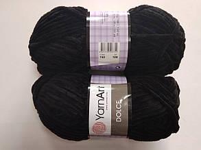 Пряжа для вязания Дольче Yarnart черный 742