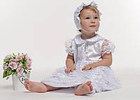 Комплект крестильный для девочки с гипюром, размеры 62,68,74см (К03-00451-0), фото 1