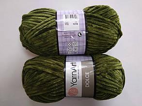 Пряжа для вязания Дольче Yarnart зеленый 772